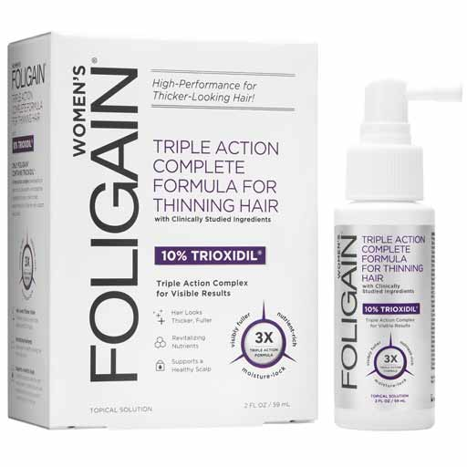 Women's Triple Action Complete Formula for Thinning Hair (10% Trioxidil)