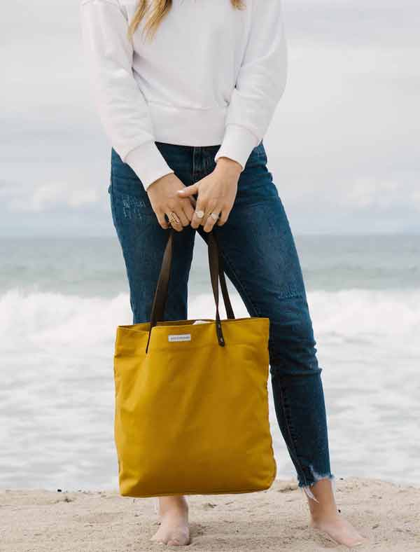 THE MADE BY FREE WOMEN DAY TOTE - MUSTARD