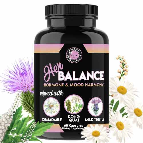 Angry Supplements Her Balance, Hormone & Mood Harmony, PMS & Menopause Support