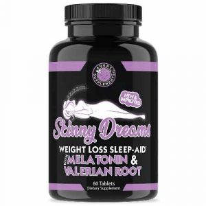 Angry Supplements Skinny Dreams Weight Loss Sleep Aid w. Melatonin & Valerian Root
