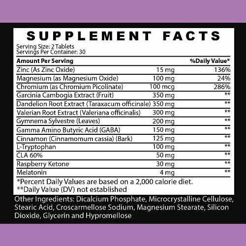 Angry Supplements Skinny Dreams Weight Loss Sleep Aid w. Melatonin & Valerian Root