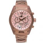 1 Katherine Chocolate Mother-of-Pearl Steel Analog Quartz Chronograph Pilot Watches for women