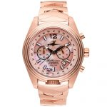1 Katherine First Class Mother-of-Pearl Steel Analog Quartz Chronograph Pilot Watches for women