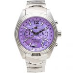 1 Katherine Royale Mother-of-Pearl Steel Analog Quartz Chronograph Pilot Watches for women