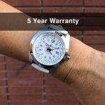 2 Abingdon Amelia Cloud White Leather Analog Quartz GMT Watches for women