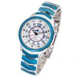 2 Abingdon Elise Sapphire Blue Steel Analog Quartz GMT Watches for women