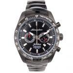 2000×2000 Abingdon Jordan Black Steel Analog Quartz Tachymeter Automotive Watch