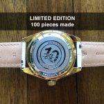 3 Abingdon Limited Edition Amelia Crowning Gold Analog Quartz GMT Watch Back