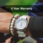 4 Abingdon Marina Shark White Mother-of-Pearl Titanium Analog Automatic World Timer Dive Watches for women