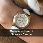 4 Katherine Rose Sun Mother-of-Pearl Steel Analog Quartz Chronograph Pilot Watches for women