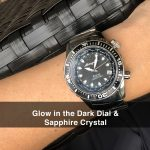 5 Abingdon Marina Belize Black Mother-of-Pearl Titanium Analog Automatic World Timer Dive Watches for women