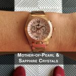 5 Katherine First Class Mother-of-Pearl Steel Analog Quartz Chronograph Pilot Watches for women