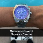 5 Katherine Royale Mother-of-Pearl Steel Analog Quartz Chronograph Pilot Watches for women